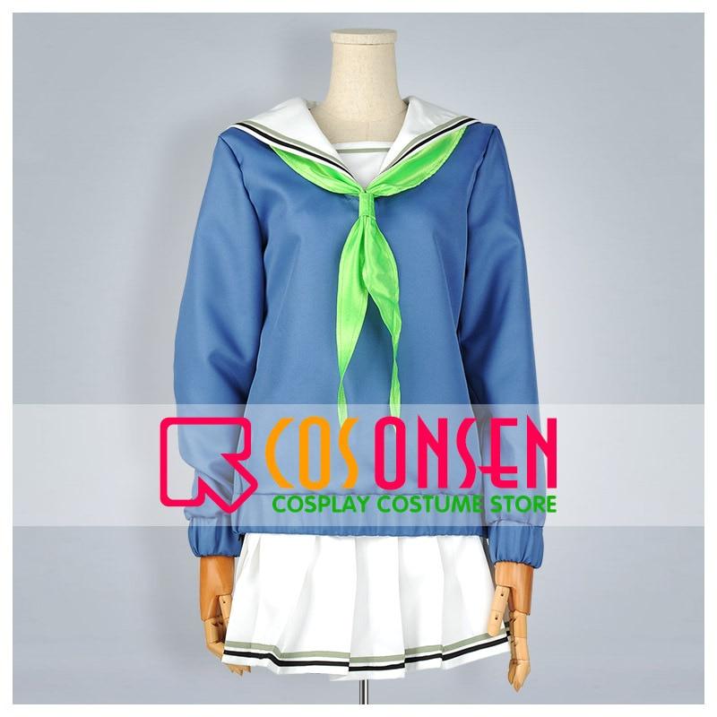 COSPLAYONSEN Kuroko's Basketball Seirin High Uniform Riko Aida Cosplay Costume Blue White Color Any Size