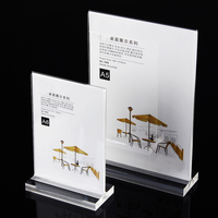 2 Units Pack Table And Menu Acrylic Display Sign Holders For Hotel Cafe Restaurant And