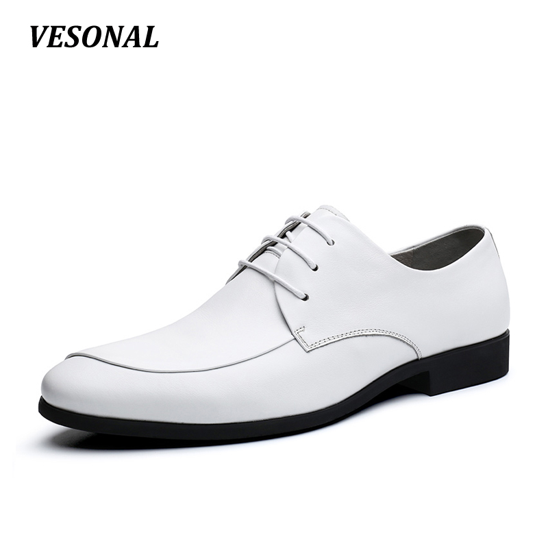 VESONAL 100% NAPPA Genuine Leather Layered Luxury Oxfords Men Shoes Dress Fashion Business Mens Shoes Casual Designer SD7039 top quality crocodile grain black oxfords mens dress shoes genuine leather business shoes mens formal wedding shoes