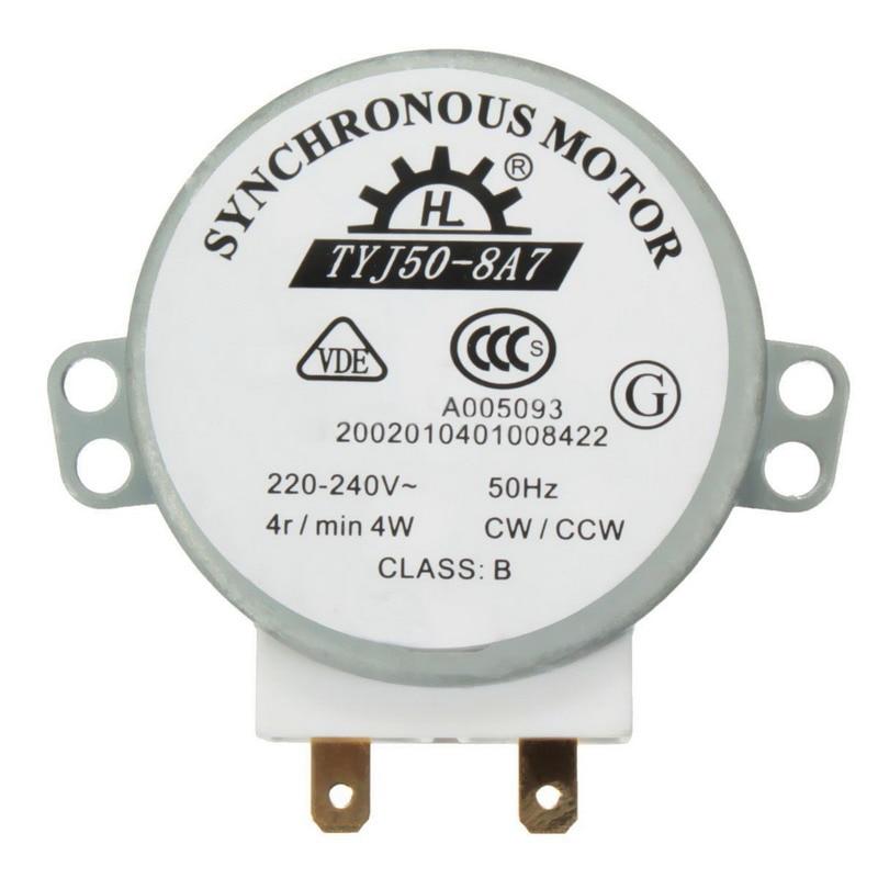 1 pièces AC 220 V-240 V 50Hz CW/CCW Table tournante à micro-ondes Table tournante moteur synchrone TYJ50-8A7 D arbre 4 tr/min