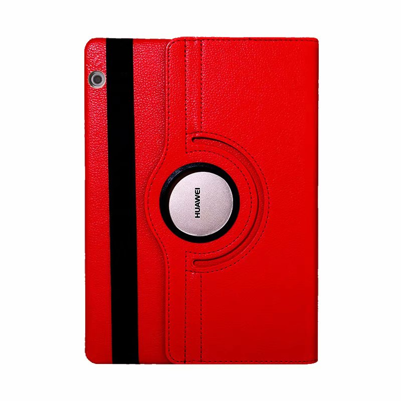 360 Degree Rotating Litchi Flip Stand Leather Magnet Cover Funda Case For Huawei Mediapad T5 10 AGS2-W09/L09/L03/W19 +Film +Pen