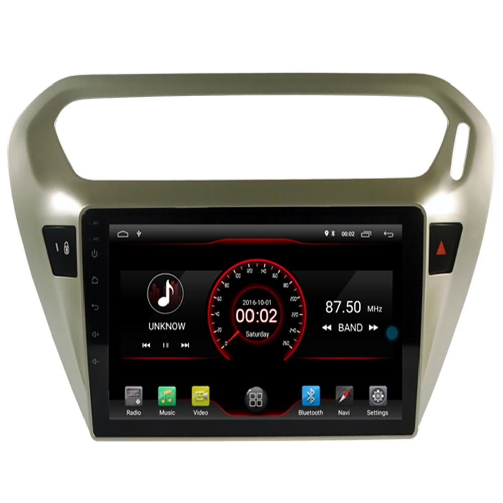 Lecteur DVD de voiture Android 9.1 Navigation GPS multimédia pour peugeot 301 citroën Elysee Radio 2013-2016