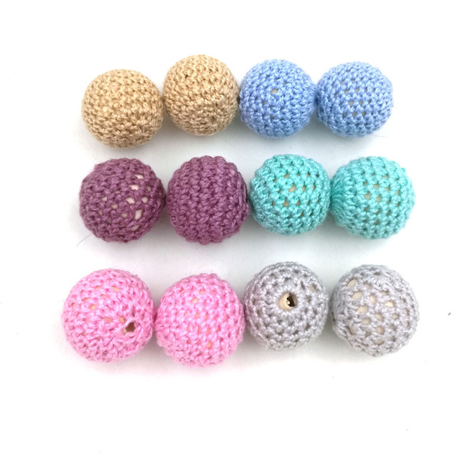 50 unids chunky ronda madera crochet BEADS, 56 colores, 20mm cuentas ...