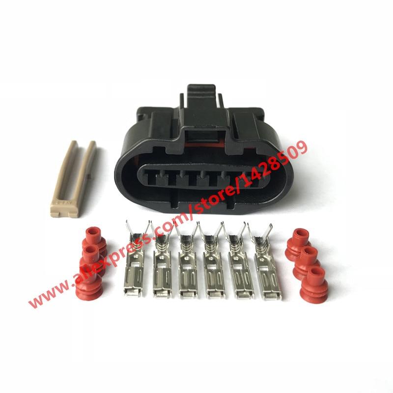 1 Set MG640547-5 6 Pin Female MAF Sensor And Ignition Distributor For Mitsubishi Automotive Connector Car Plug