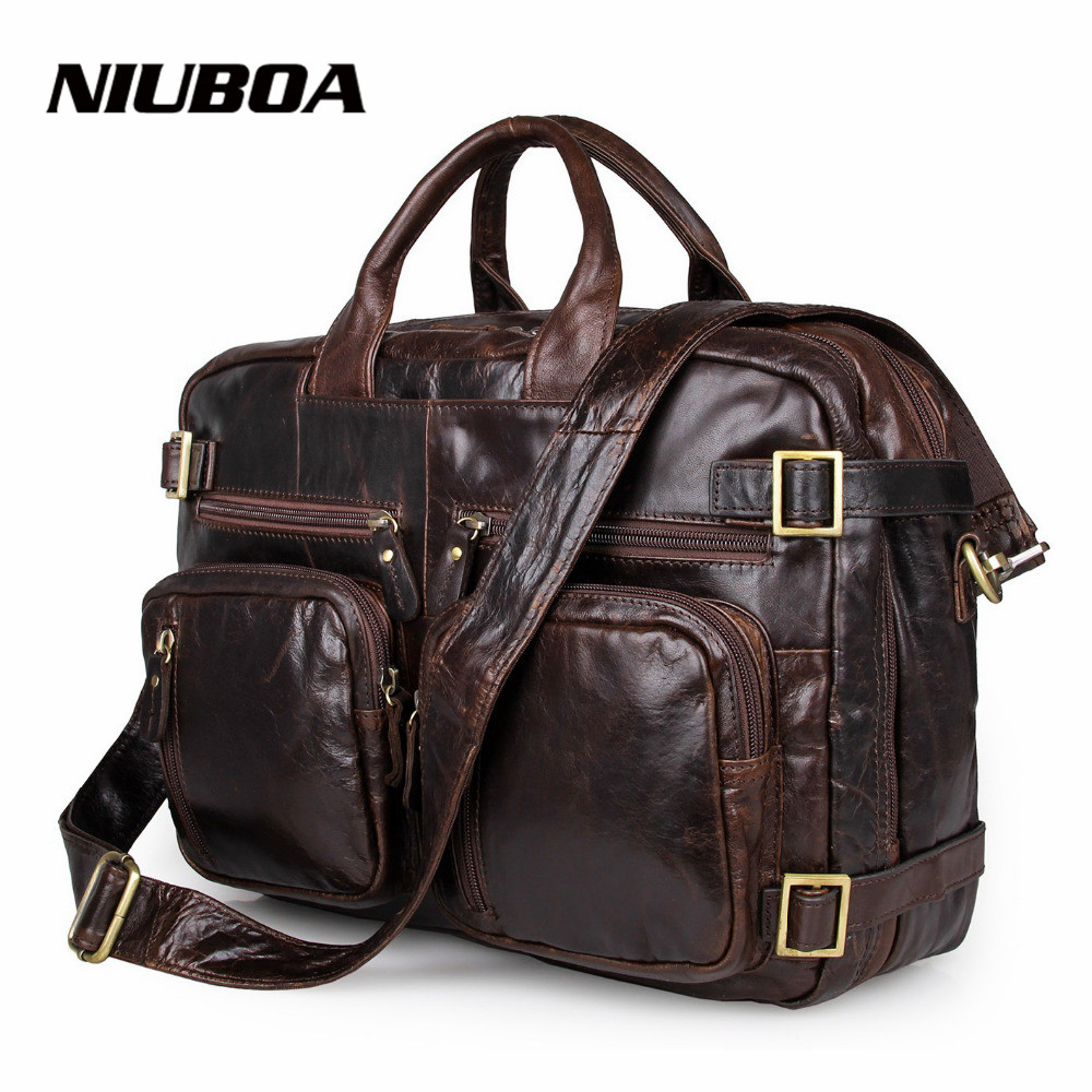 Men Genuine Leather Shoulder Bag Top Quality Men s Fashion Mult Function Travel Shoulder Bag Handbag