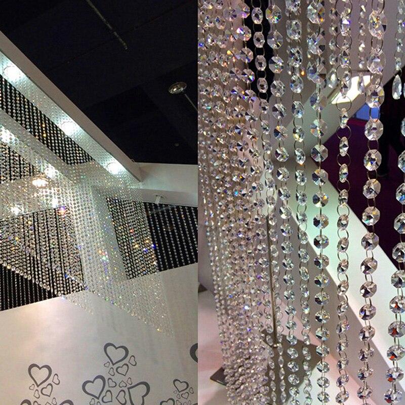 33 pies/10 M decoración de boda DIY diamante acrílico cuentas de cristal cortina hilo guirnalda bufanda de ventana cortina decoración para la sala de estar