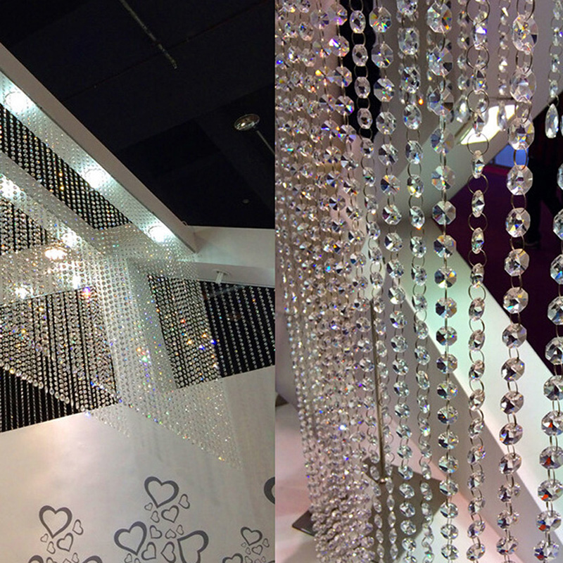 33ft/10M Hochzeit DIY Decor Diamant Acryl Kristall Perlen Vorhang Strang Girlande Fenster Schals Vorhang Dekoration Für Wohnzimmer zimmer