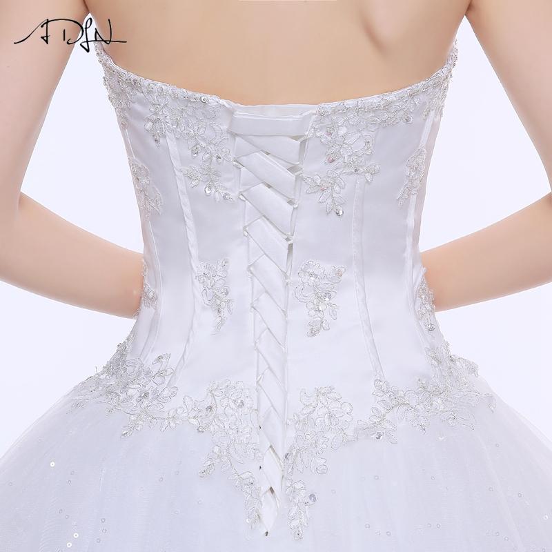 ADLN Wedding Dresses Vestidos de Novia Off the Shoulder Sweetheart Tulle Long Bride Dress Lace Up Back Plus Size In Stock 18