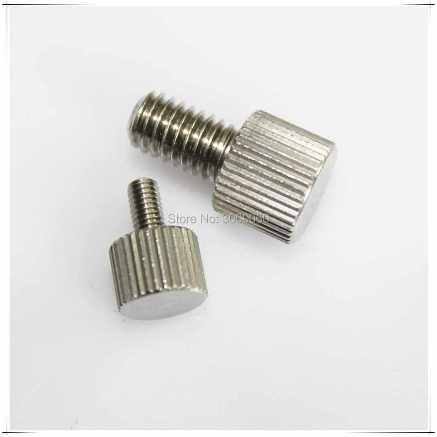M2 M2.5 M3 M4 M5 M6 Stainless Steel Small Knurled Head Adjusting Thumb Screw 50pcs/lot