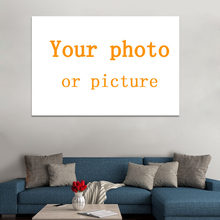 Custom Foto 'S Uw Foto foto Canvas Art Prints Schilderijen Wall Art Poster Populaire Decoratie voor gift Unframe(China)