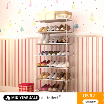 Shoe Organizers Assembled Multiple Layers Shoes Rack Stand for Footwear Shoemaker Shoe Storage Holder Non-woven Fabric Cabinet
