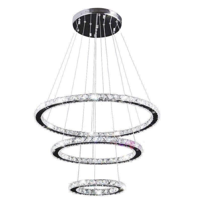 Moderne Ringen Led Kristallen Kroonluchter Opknoping Verlichting Crystal Lustre Hanger Lamparas Plafond Armaturen Armatuur Voor Woonkamer - 6
