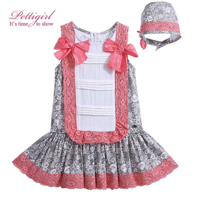 849ba7c67 Latest Lolita Style Baby Girls Light Brown Floral Dress With ...