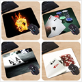 180X220X2mm Customized Mouse Pad Ace Black Background Cards Fire Las Vegas Texas Holdem Poker Computer Notebook 250x290x2mm
