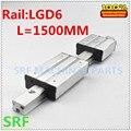 1 шт. алюминиевая Двухосная внешняя направляющая роликовая линейная направляющая LGD6 L = 1500 мм с 4 колесами скользящего блока