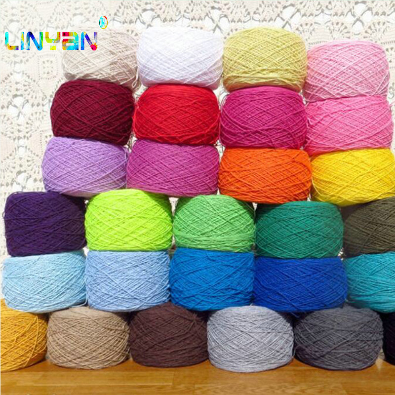 500g 100% Egyptian Long-staple Cotton Worsted Super Soft Smooth Natural Wool Baby Crochet Yarn For Knitting Needles Hand T50