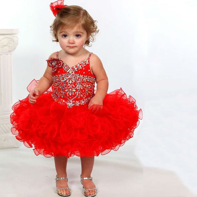 Red Glitz Pageant Dresses