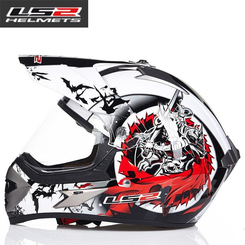LS2 MX433 внедорожный мотоциклетный шлем с ветрозащитным щитом мотокросса шлемы костюм для мужчин и женщин одобренный ECE - Цвет: 11