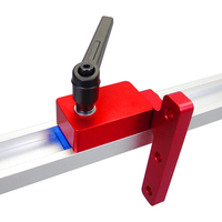 KKMOON Standard T Tracks T Slot Miter Track Stop Chute Stopper Manual Woodworking DIY Tools Supplies