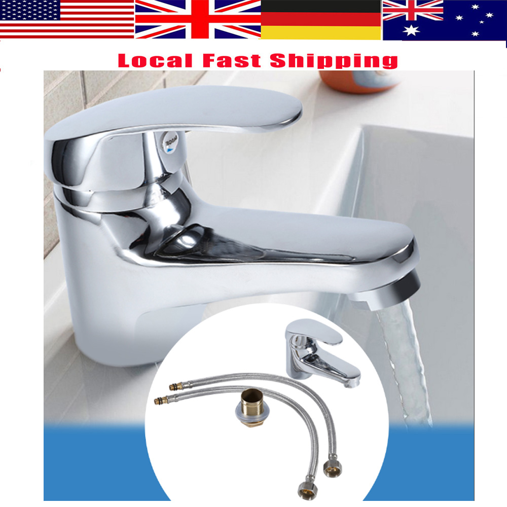 . US  9 15 23  OFF Bathroom Faucet Water Tap Single Handle Hot Cold Water  Sink Tap Mixer Faucet Brass Water Faucet Tap Chrome Plated Bathtub  Faucet in