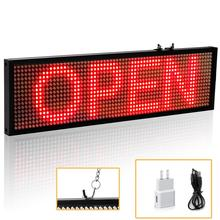 34cm P5MM Led Sign WiFi Programmable Scrolling Message Display Board Support for all languages Industrial Grade Business Tools