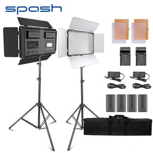 spash TL-600S 2 Sets Studio Light LED Video Light for Youtube Shoot 600 Beads 25W CRI90 Photo Lamp with 200cm Tripod Battery