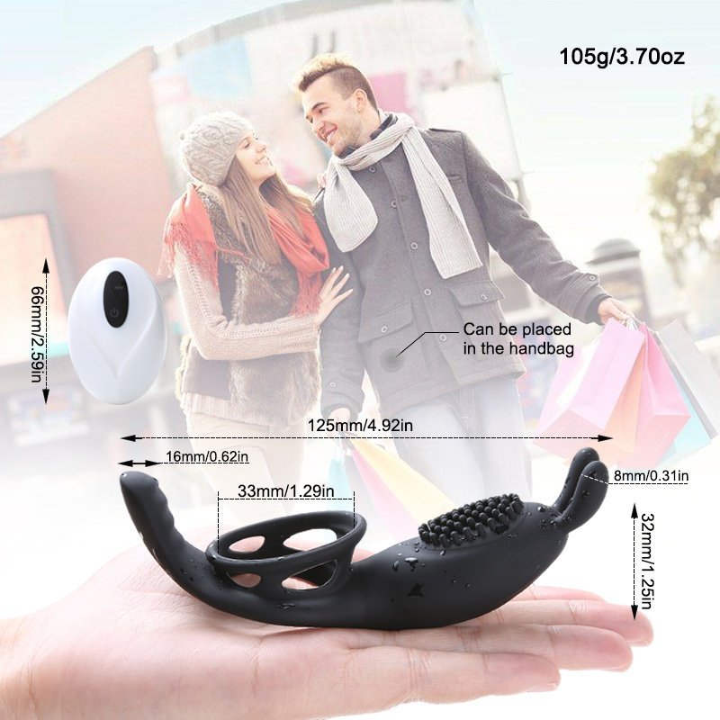 Sex Vibrators Male Ring Wireless Remote Delay Ejaculation Penis Stimulator Vibrator Male Chastity Device Erotic Sex Toys For Men in Vibrators from Beauty Health