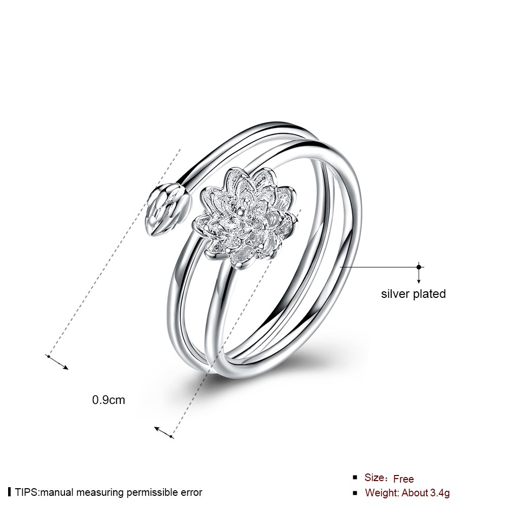 Stainless Steel Silver Plated LKNSPCR959 Fashion bud ring LKNSPCR959 Fashion bud ring
