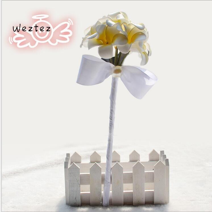 Bridal Bouquet Yellow White Calla Wedding Bouquet Accessories Wedding Bouquet Brooch For Women Wedding D185