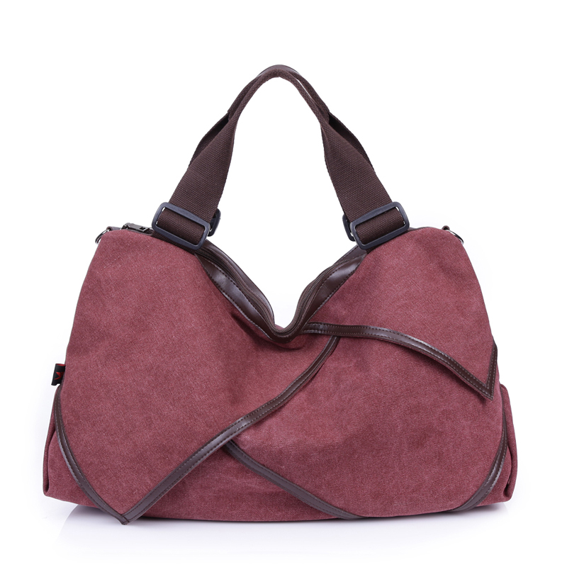 Quality Handbags Solid Hobos font b Women b font Tote Bag Fashion Designer Ladies Ruched Canvas