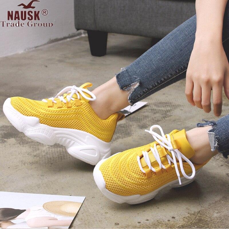 Women Sneakers Autumn Air Mesh Tenis Fashion Casual Shoes Woman Comfortable Breathable Flats Female Platform Chaussure Femme zapatillas de moda 2019 hombre