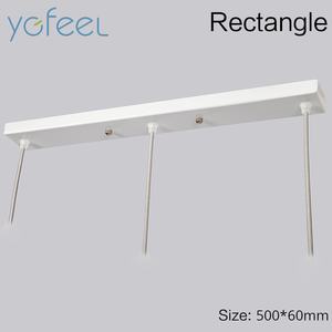 Image 4 - [YGFEEL] Modern Dining Room Pendant Light 3 Heads Round/Rectangle Ceiling Plate Indoor Living Room Bedroom Decoration Lamp