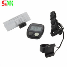 Sunding New Arrival 1PC Waterproof Digital LCD Bike Computer Cycle Bicycle Speedometer Odometer 14 Functions
