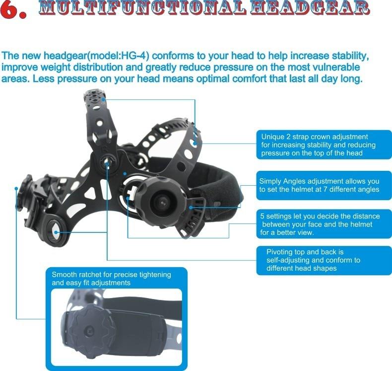 Headgear HG-4/ for welding helmet /welding mask/auto-darkening welding helmet цена