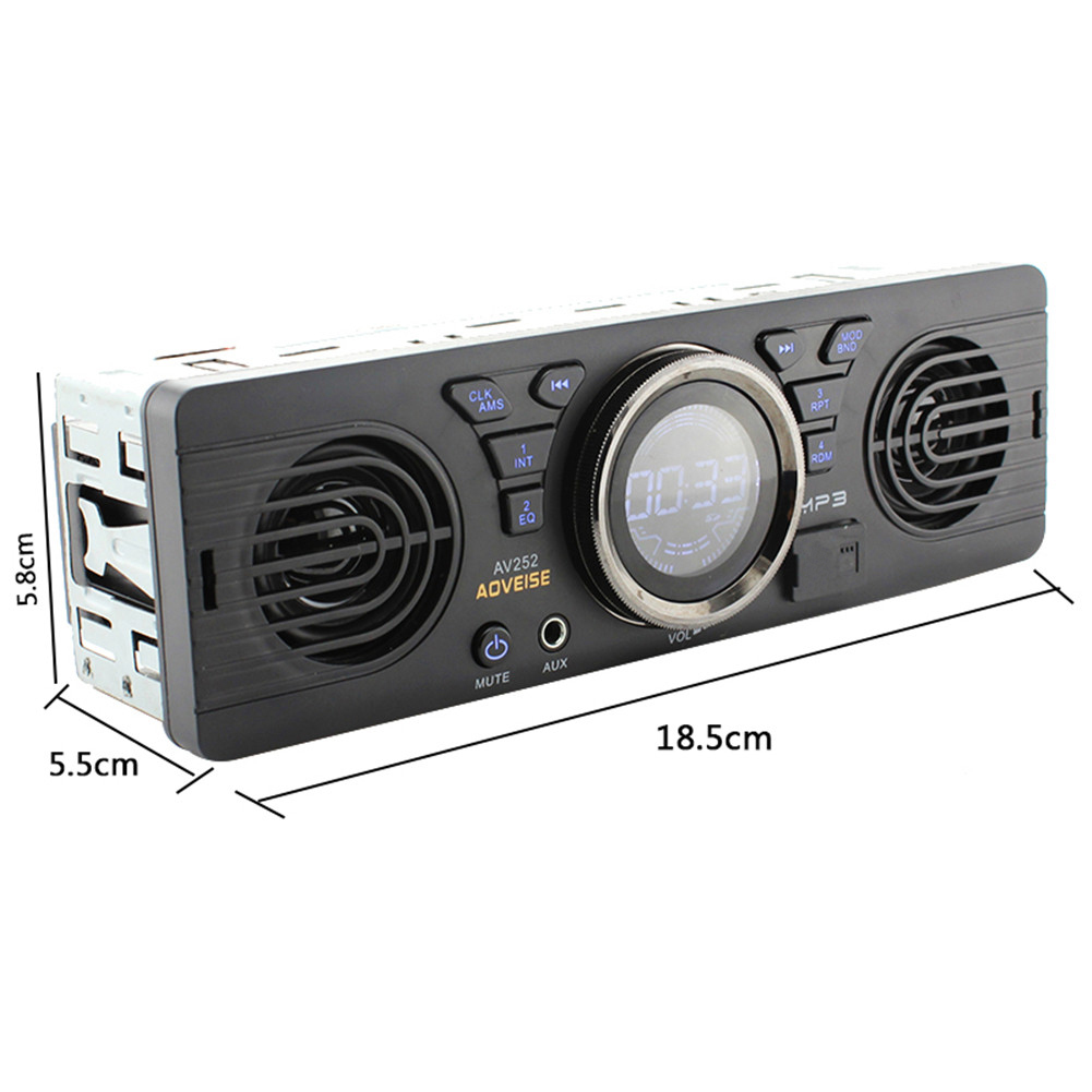 Bluetooth AV252 12V Car Radio Tuner Loudspeaker In-dash Audio MP3 Player Car Stereo FM Radio EDR With USB /TF Card Port MP3/ WMA