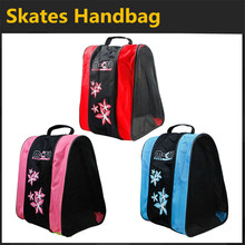 Kids' Inline Skates Bag Breathable Dustproof Handbag for Children Roller Skating Shoes Patines, Pink Blue Red Color