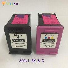 300 xl Ink cartridge for hp 300xl For HP300 D1660 D2560 D2660 D5560 F2420 F2480 F2492 F4210 F4224 F4272 F4280 printer high ink volume re manufactured ink cartridge for hp 300xl 15 17ml cc644ee 300xl tri colour inkjet cartridge for deskjet d2660