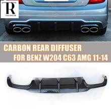 W204 C63 Carbon Fiber Rear Lip Diffuser Spoiler for Benz W204 C63 AMG 2012 2013 2014 for w204 rear diffuser carbon gloss black opening rear diffuser lip for benz w204 c200 c230 c250 c280 rear diffuser lip 2012 14