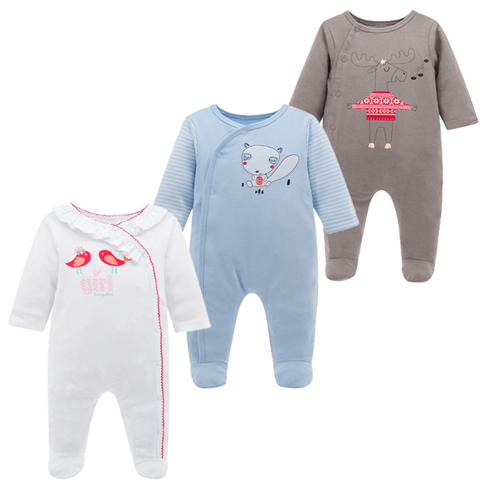 KAVKAS Cotton Baby Rompers Spring Baby Boy Clothes Baby Girl Clothes Newborn Baby Clothes Infant Jumpsuits Cartoon Bebe Clothes