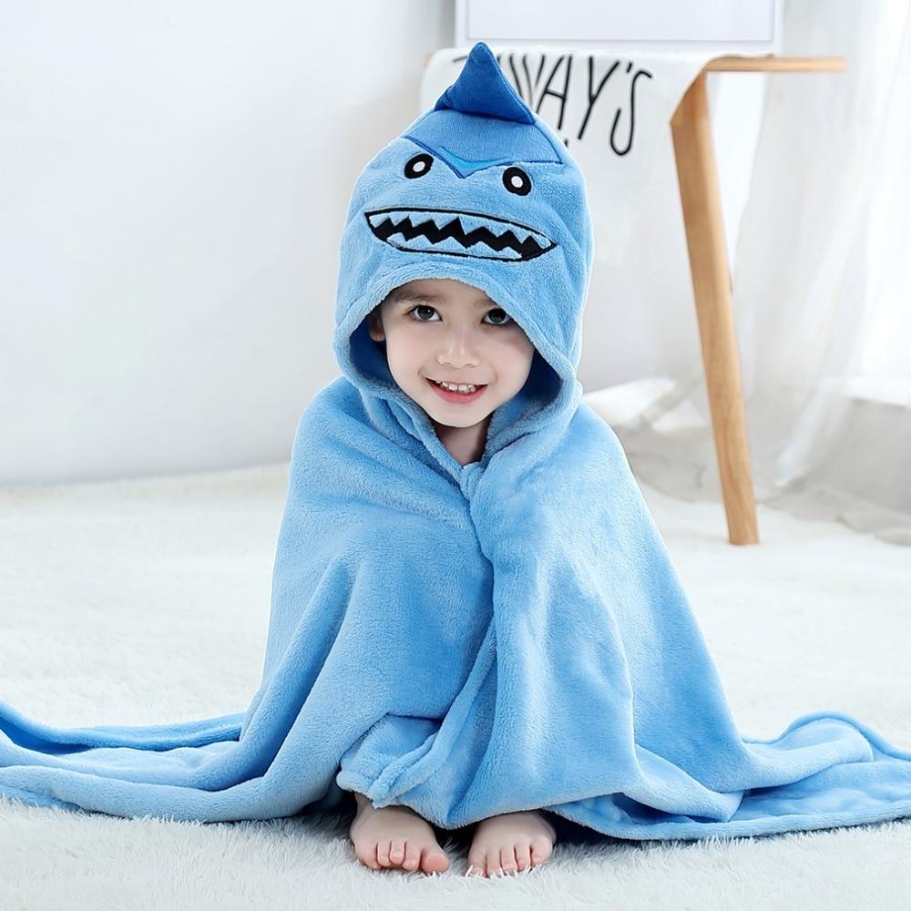 Baby Animal Cartoon Hooded Towel Beach Bath Robes Soft Children Poncho Towels Bathing Suit Towel For Boys Girls Kids Bathrobe 5
