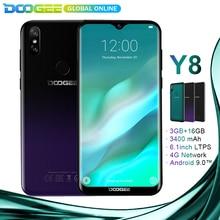 Yeni geliş DOOGEE Y8 Android 9.0 Smartphone 6.1