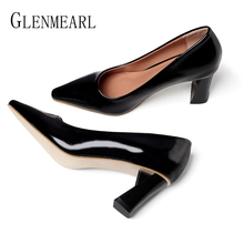 Women High Heels Brand Shoes Spring Woman Pumps Party Working Shoes Pointed Toe Plus Size Office Ladies Dress Shoes Female Pumps enmayer zipper shoes woman square toe pumps europe and the united states high heels pumps plus size 34 43 office ladies shoe