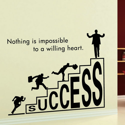 1 pc wall sticker company corporate office culture personalized road to success inspirational 58x46cm
