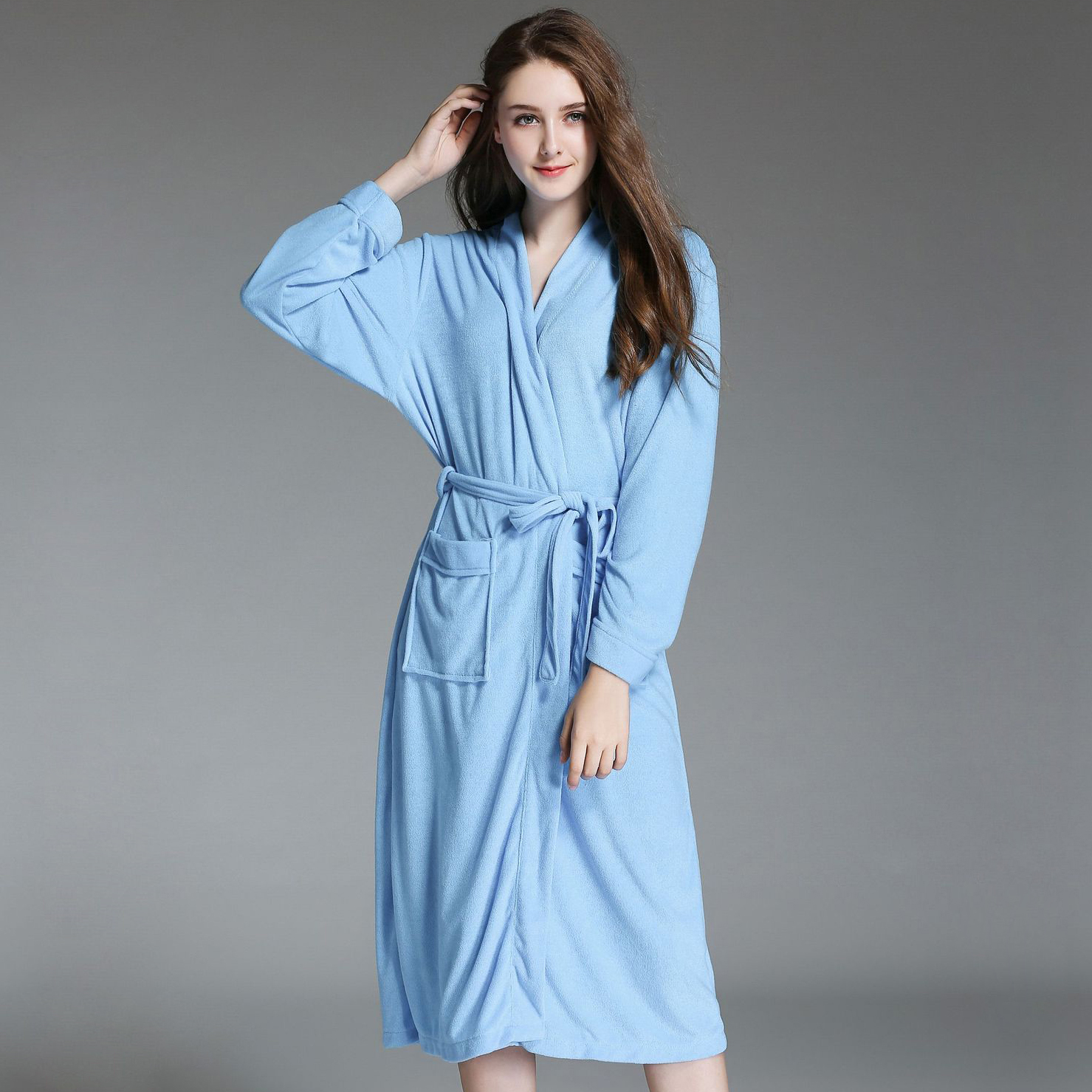 Plus Size Towel White Robe Women Dressing Gown Quality Spa Bathrobes