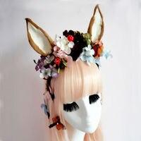 Fancy Dress Cat Fox Ears Headband Anime Cosplay Pairty Costume Flowers Gothic Headbands Hair Accessories