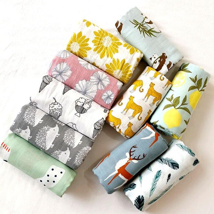 58x58cm Muslin Organic Cotton Baby Towels Scarf Swaddle Bath Towel Newborns Handkerchief Bathing Feeding Face Washcloth Wipe