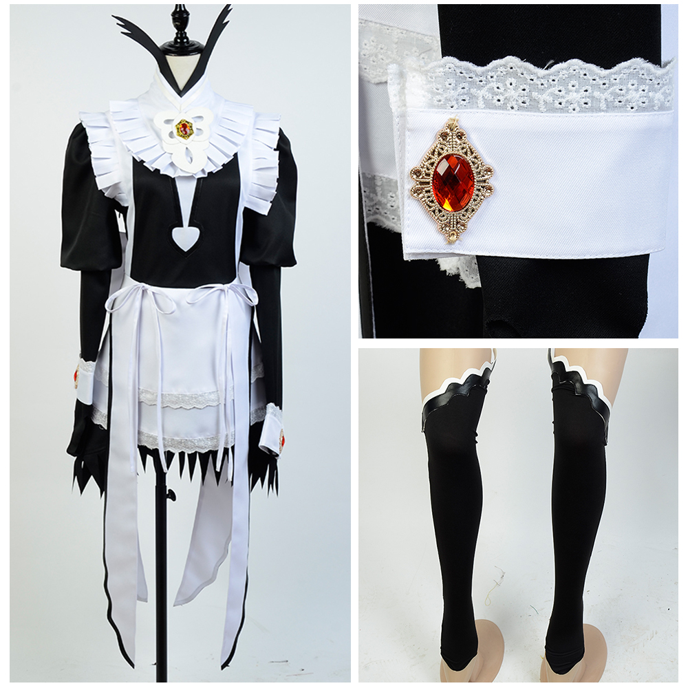 Fire Emblem Fates Flora Maid Dress Copslay Costume Women Girls Halloween Carnival Costume