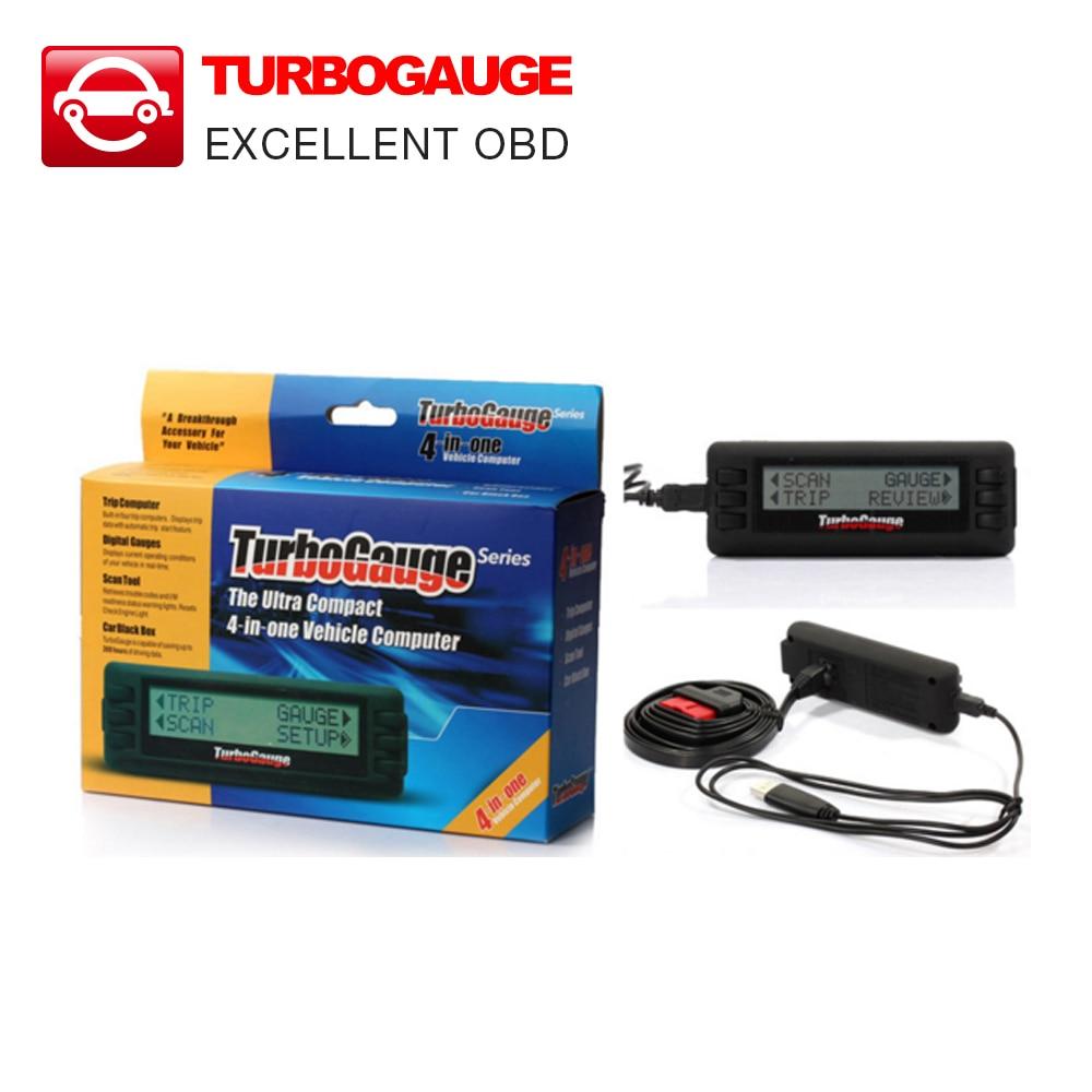 Prix pour 2017 NOUVELLE Arrivée Turbogauge IV 4-en-1 Véhicule Ordinateur OBDII/EOBD de voiture ordinateur de bord/Numérique Jauges/jauge de balayage/voiture outil d'analyse