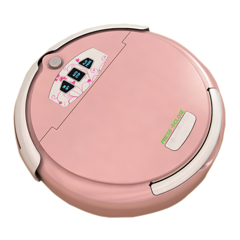 2013 new DHL 4 pcs Multifunctional Robot Vacuum Cleaner, LCD Screen,Touch Button,Schedule Work,Virtual Wall,Auto Charging