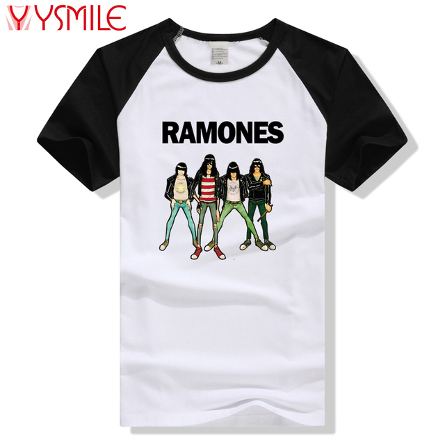 a9ef516dfd4864 Rock Band T-shirt The Ramones T Shirt Men Clothing Top Rock N Roll Tee Punk  Plus Size t shirt Gifts 2017 Summer Style Fashion